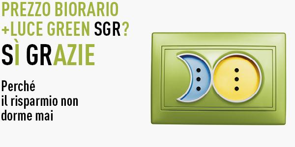 prezzo biorario + luce green